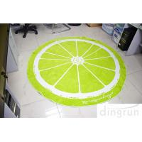 Quality Jacquard Round Beach Towels Luxury Size Lemon Lolor 180*180cm for sale