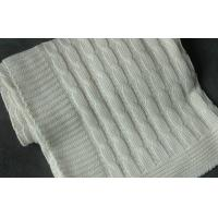 Quality comfort touch 100 Organic Cotton Knitted Baby Blankets Wrap With Queen Size white for sale