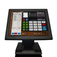 Quality LED Resistive All In One Touchscreen Pos Terminal Cash Register J1900 15'' Aluminum Alloy Base for sale