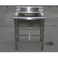 Quality Industrial Stainless Steel Shelving Restarant Equipment Wash Sink With Tap Hole for sale