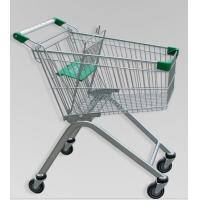 Quality Metal Luggage Shopping Trolley With Wheels , Supermarket Unfolding Cart 80L for sale