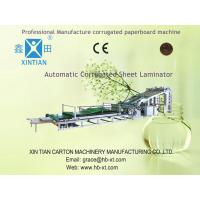 China High Precision Carton Folding Machine of Automatic Flute Laminator For Paper Packing Box on sale