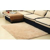 Quality Modern Plain 100% Polyester Shag Rug For Bedroom / Meeting Room for sale
