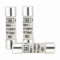 Buy cheap Power Fuses with 500mA to 10A, 500V/690V Voltage, Measuring 10.3 x 38mm from wholesalers