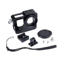 Quality Aluminum Alloy Hero 4 Rugged Cage Protective Housing Case For GoPro Hero 4 Sliver Black With UV Lens Cap for sale