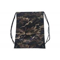 Quality Eco Friendly Personalized Drawstring Bags Camouflage Printed PU Leather for sale