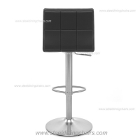 China Adjustable 38CM 103CM Black Leather Swivel Bar Stools With Arms on sale