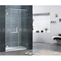 Quality Customized Clear Tempered Glass Shower Screen 10MM 180 Degree Magnetic Seal Swing Door for sale