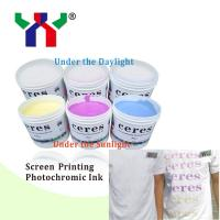 Quality High Quality Screen Printing Photochomric Ink / Solar Discoloration Ink For T-shirt Printing for sale