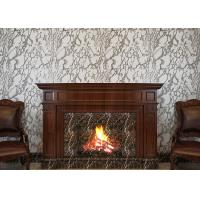 Quality Marble Printing Grey And White Wallpaper , Removable TV Background Wall Covering for sale