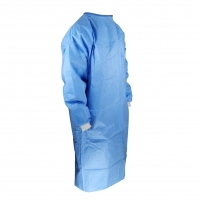 China Eco Friendly Patient S M Stitched seams Waterproof Isolation Gown on sale