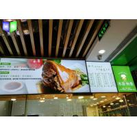 Quality Frameless Edge Lit Restaurant Menu Light Box Illuminated Menu Signs Snap Frame for sale