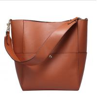 Quality Pure Leather Handbag Bucket Bags for Women Hot Sale Cowhide Single Shoulder Bag for sale