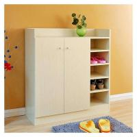 China Multi Function Wooden Shoe Rack Cabinet / Indoor Large Wooden Shoe Box Storage on sale