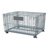 Quality 6mm Wire Mesh Container , 304 ss Warehouse Wire Container for sale