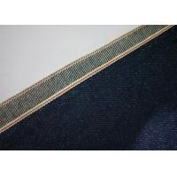Quality 7 * 7 Indigo 100 Cotton Denim Fabric By The Yard , Shrink Proof Cotton Jeans Cloth for sale