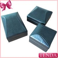 China Unique Irregular Roof Black Leather Pendant Ring Jewellery Boxes on sale