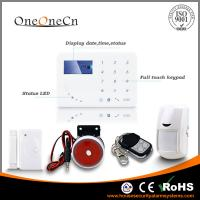 Quality 433MHZ Wireless Security Alarm System  built in Intelligent voice announcer GSM for sale