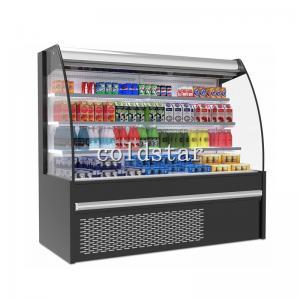 Quality Vertical refrigerated display case/upright open chiller/ supermarket cooler for sale