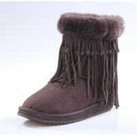 Quality 2018 wholesale new fashion micro sheepskin double face fur warm ladies winter snow boots, red color 5835 MK for sale