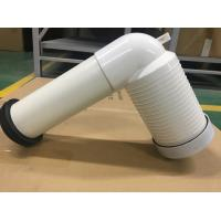 Quality PVC Toilet Drain Pipe With Connector , Wc Waste Pipe Large Displacement for sale