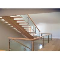 Buy Interior Glass Stair Balustrade Systems Wood Handrail With Good View Of  Outside At Wholesale Prices ...
