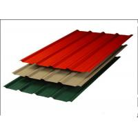Quality Aluminum Zinc Corrugated Steel Sheets , Red Corrugated Steel Roof Panel for sale