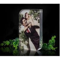 Quality Personalised Magnetic Acrylic Block Photo Frame For Wedding Picture for sale