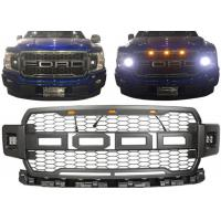 Quality Ford 2018 New F150 Car Front Grille With Daytime Running Light Black Color for sale