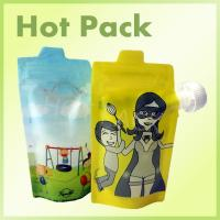Quality Colorful Reusable Squeezable Baby Stand Up Food Pouch Bags For Juice Beverage for sale