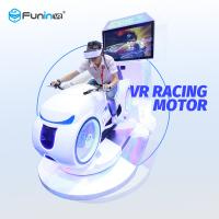 Quality White 9D Virtual Reality Racing Simulator , Multiplayer 700KW Motorcycle Racing Simulator for sale