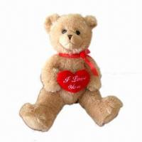 Quality Wedding Plush Toys, Teddy Bear with Red Heart for sale