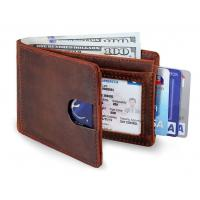 Buy cheap RFID Blocking Slim Bifold Genuine Leather Minimalist Front Pocket Wallets for from wholesalers