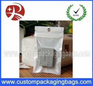 China Ziplock Plastic Hanger Bags for Battery , Recycled  plastic bag hanger on sale