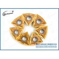 Quality Yellow Coating Tungsten Carbide Inserts For Cutting Limestone Blocks for sale