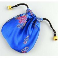 Quality satin jewelry bag with Chinese style for sale