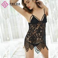 Quality Women Chemises & Gowns Nightwear Sexy Ladies Black Lace Lingerie for sale