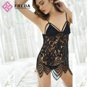 Women Chemises & Gowns Nightwear Sexy Ladies Black Lace Lingerie