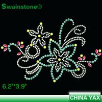 Quality New Arrival flower rhinestone motif,flower motif rhinestone,rhinestone flower motif  for t shirt for sale