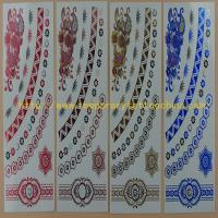 Quality Fashion temporary metal gold and silver tattoo sticker good quality and price for sale