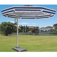 Quality Side Pole Striped Double Patio Umbrella Colorful Beach Parasol For Shopping Street / Villa for sale