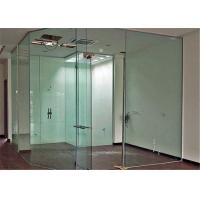 Quality Clear Flat Tempered Glass Partition Wall / Glass Partition Size Customized for sale