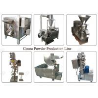 Quality Industrial Cocoa Powder Production Line , Nut Processing Machine 50 Kg/H Capacity for sale
