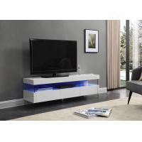 Quality Lacquer Matt Modern TV Stand Furniture with LED Light / Elegancy Glass Shelf and Legs for sale
