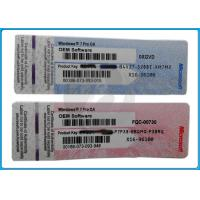 Quality COA Label Windows 7 Product Key Codes / Sticker For Windows xp professional oem for sale