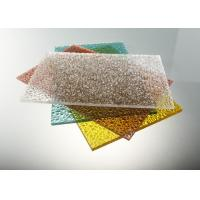 Quality Good Strength Diamond Clear Polycarbonate Sheet / Uv Polycarbonate Panels Color Stable for sale