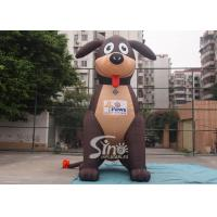 Quality 5 meters high lovely large outdoor puppy inflatable dog for advertising decoration for sale