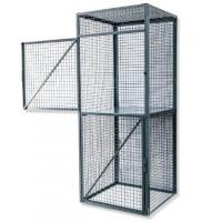 Quality Durable Wire Utility Cart For Workshop ,  One Shelf Steel Wire Security Cage for sale