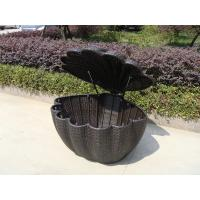 Quality Garden Shell Shaped Wicker Rattan Storage Box With UV Resistant for sale