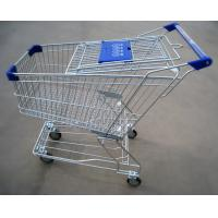 China Metal Supermarket / Grocery Store Shopping Carts Trolleys With Customer Logo on sale